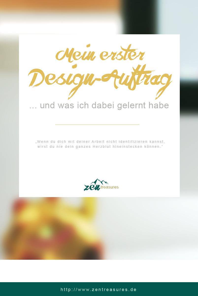 Mein erster Design-Auftrag. ZENtreasures.de Blogpost