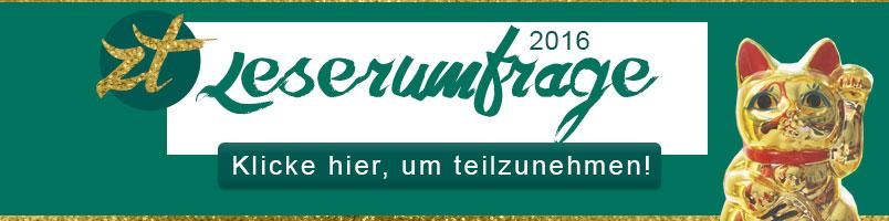 ZENtreasures.de Leserumfrage 2016 - Bitte mach mit!