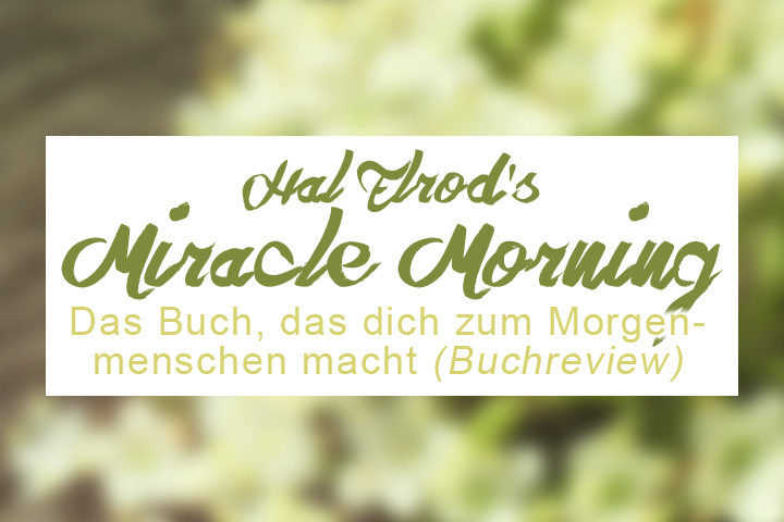 ZenMorning Miracle Morning by Hal Elrod, Buchreview, die Blogserie auf Zentreasures Blogpost