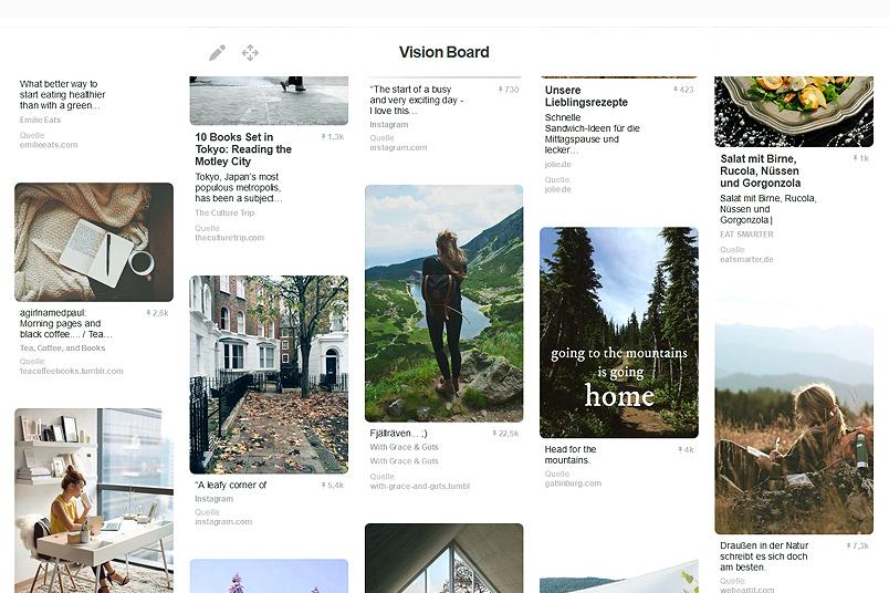 Verwirklich deine Träume - mit einem Pinterest Vision Board. ZENtreasures.de Blogpost