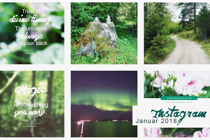 Monthly Instagram Recap: Januar 2018 auf zentreasures.de