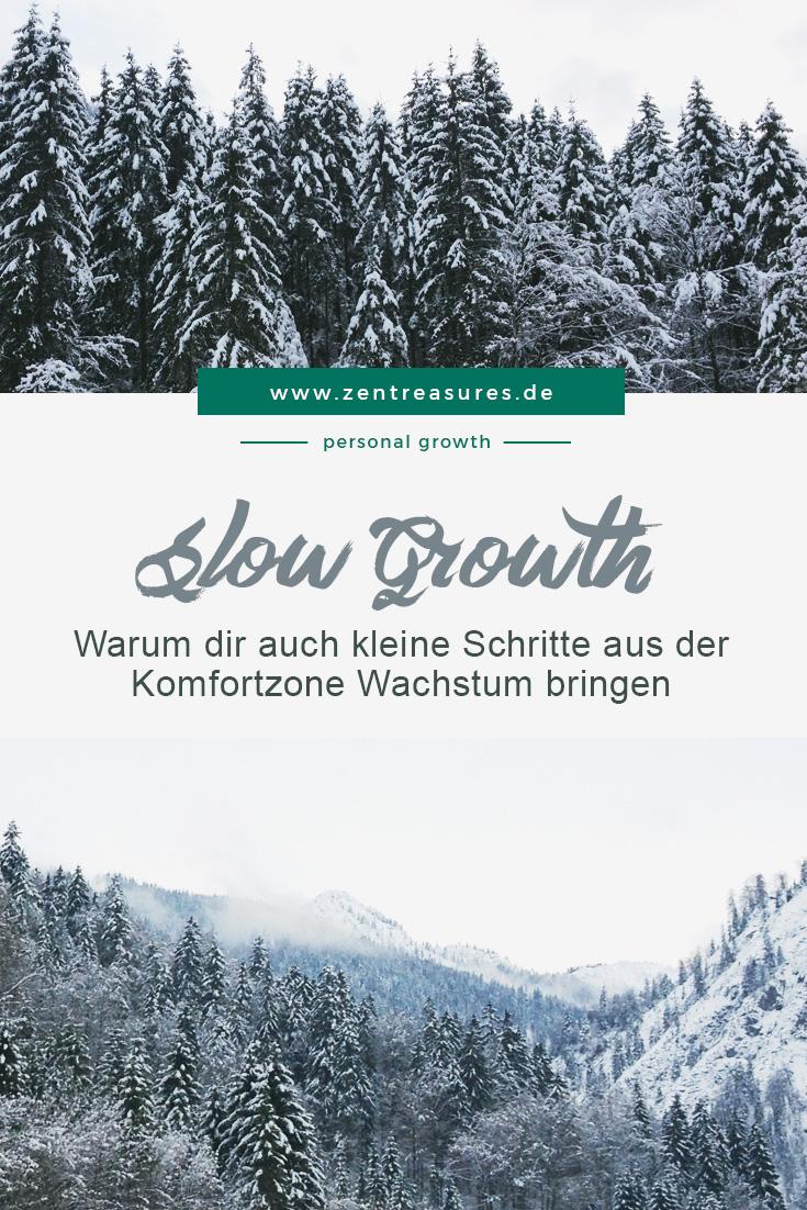 Warum dir auch kleine Schritte aus der Komfortzone heraus Wachstum bringen || zentreasures.de