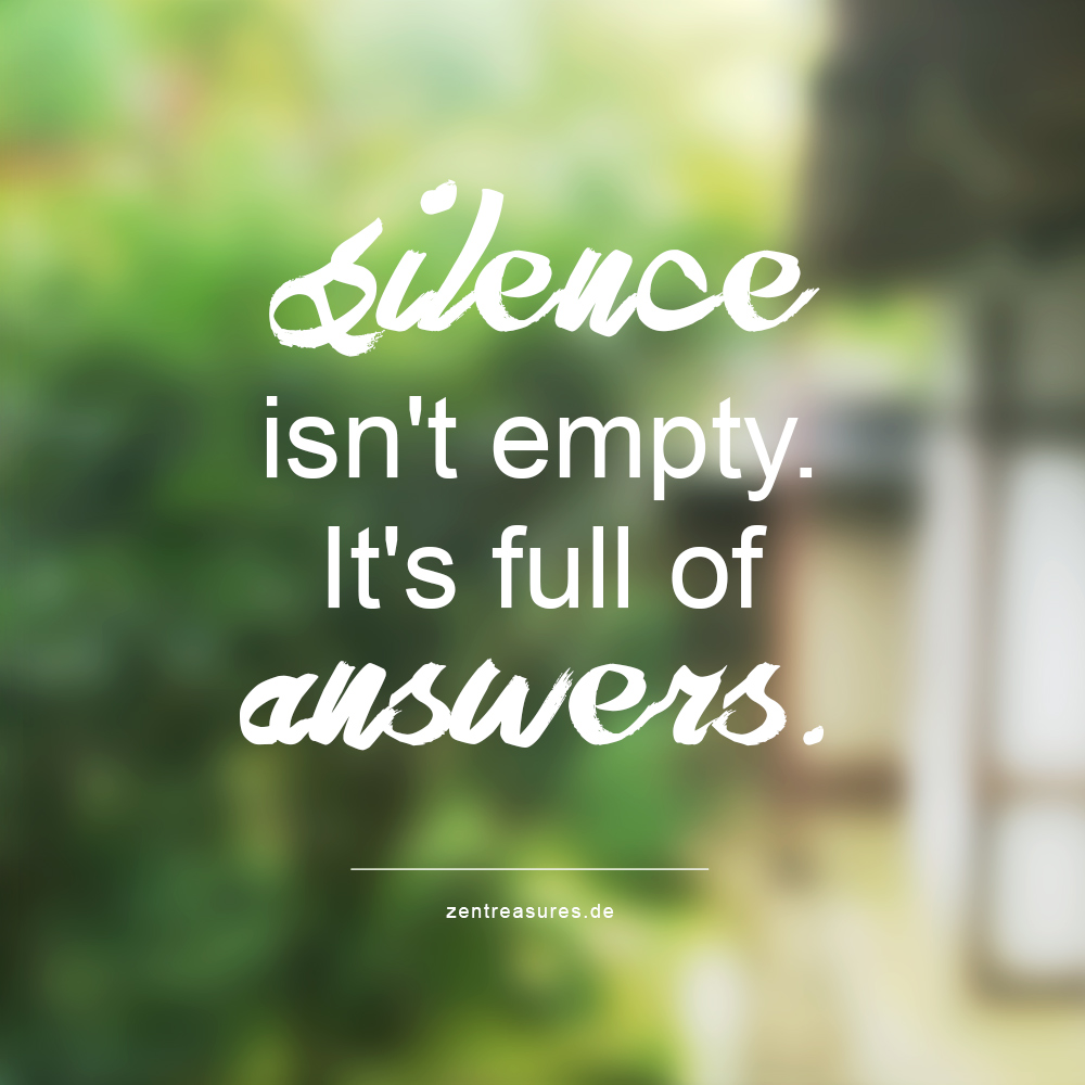 Silence isn't empty. It's full of answers.