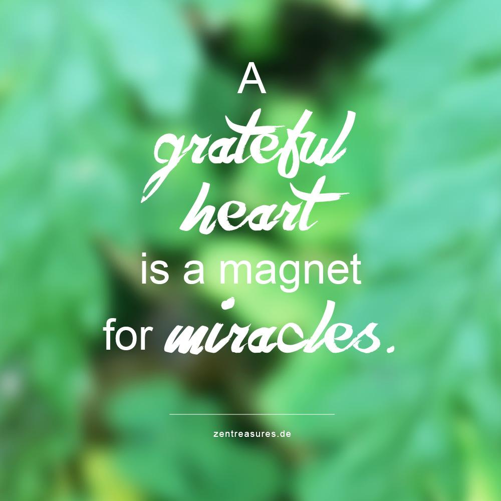 So lernst du, dankbarer zu sein