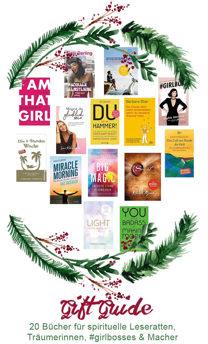 Lesefreude verschenken mit diesen 20 Buch-Empfehlungen für spirituelle Träumerinnen, Yogis und angehende Girlbosses
