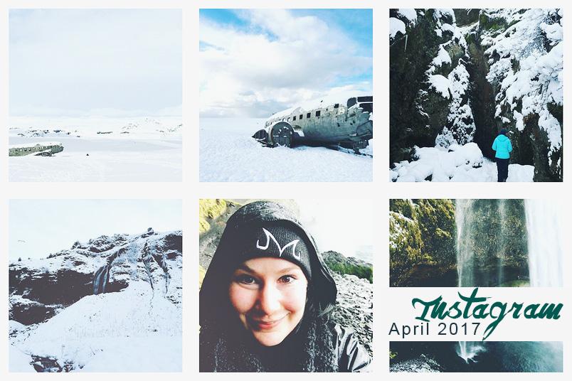 Instagram-Feed mit Bildern aus Island und motivierenden Zitaten.