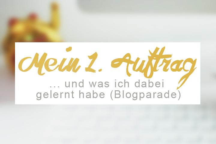 Blogparade Mein erster Design-Auftrag